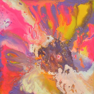 Passion by Vernika , Abstract Painting, Acrylic on Canvas, Pink color