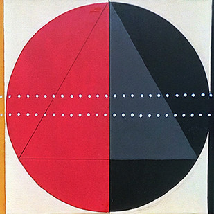 STELLAR 2 by V .Hariraam , Geometrical Painting, Acrylic on Canvas, Blue color