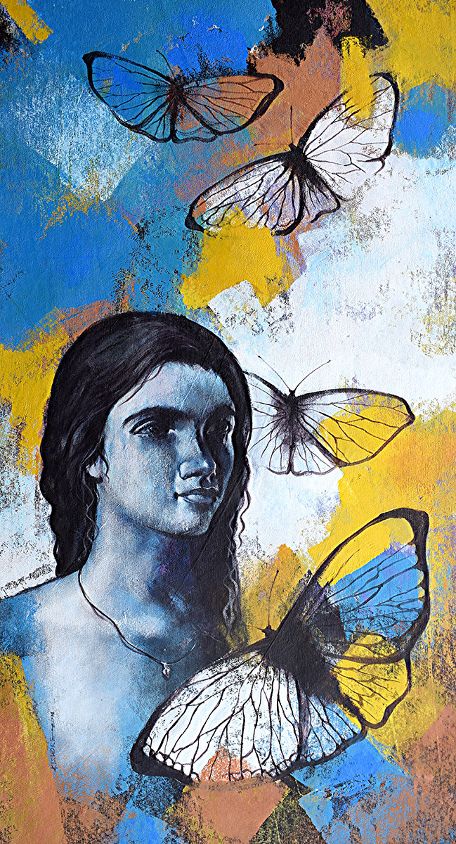 She_10 Digital Print by Kishore Pratim Biswas,Expressionism