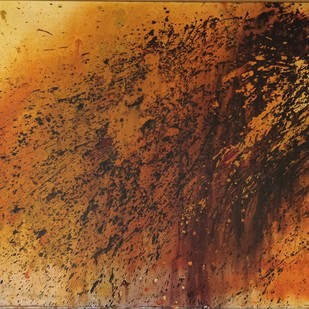 Untitled by Jin Shook Shinde, Abstract Painting, Acrylic on Canvas, Brown color