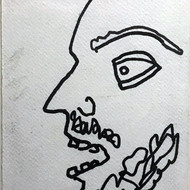 Jogen chowdhury 1  ink on paper  14x19cm