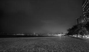 Night in Mumbai. by Dinesh Shringi, Image Photography, Canvas on Board, Gray color