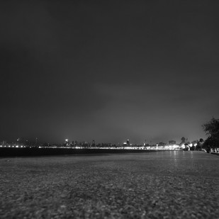 Night in Mumbai. by Dinesh Shringi, Image Photography, Canvas on Board, Gray color