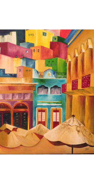 Hola Mexico by Ishita Sharma, Impressionism Painting, Oil on Canvas, Brown color
