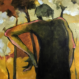 """Lost in the Echo"" by Viraj Jaulkar, Expressionism Painting, Acrylic on Canvas, Brown color"