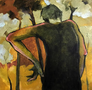 """""""Lost in the Echo"""" by Viraj Jaulkar, Expressionism Painting, Acrylic on Canvas, Brown color"""