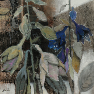 Spring 1 by Sulakshana Dharmadhikari, Expressionism Painting, Acrylic on Canvas, Gray color