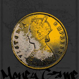 MONEY GAME by Sanuj Birla, Pop Art Digital Art, Digital Print on Canvas, Gray color