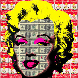 WORHOL'S MONROE 01 by Sanuj Birla, Pop Art Digital Art, Digital Print on Canvas, Brown color