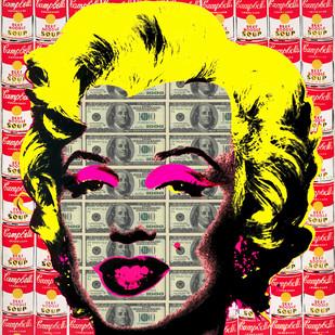WORHOL'S MONROE 01 by Sanuj Birla, Pop Art Digital Art, Digital Print on Canvas, Brown color