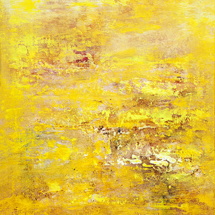 Untitled by Goutam Mukherjee, Abstract Painting, Oil & Acrylic on Canvas, Beige color