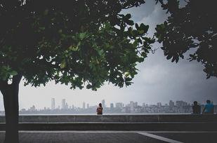 Mumbai blues. by Dinesh Shringi, Image Photography, Canvas on Board, Gray color