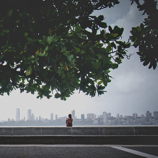 Mumbai blues. by Dinesh Shringi, Image Photography, Canvas on Board, Gray color