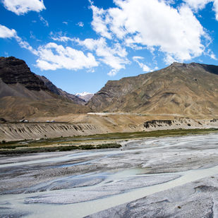 Spiti Sky by Aditya Mendiratta, Image Photography, Acrylic, Photograph Printed on Archival paper, Brown color