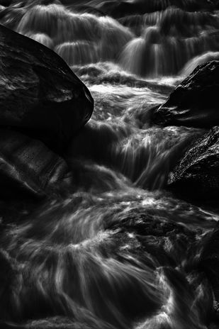 Running Stream by Minhajul Haque, Image Photography, Inkjet Print on Archival Paper, Gray color