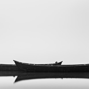 Black Boats by Minhajul Haque, Image Photography, Inkjet Print on Archival Paper, Gray color