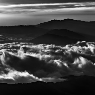 Mountains in Delicate Cloud by Minhajul Haque, Image Photography, Inkjet Print on Archival Paper, Gray color