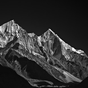 Snowy Bhagirathi by Minhajul Haque, Image Photography, Inkjet Print on Archival Paper, Gray color