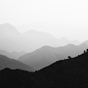 Misty Hills by Minhajul Haque, Image Photography, Inkjet Print on Archival Paper, Gray color