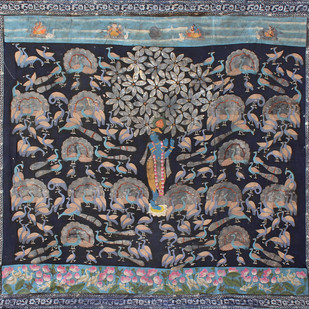 Morakuti by Unknown Artist, Folk Painting, Stone Colour on Cloth, Gray color