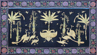 Morakuti by Unknown Artist, Folk Painting, Stone Colour on Cloth, Blue color