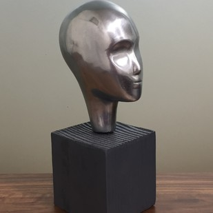 Dreamer by Vernika, Art Deco Sculpture | 3D, Metal, Brown color