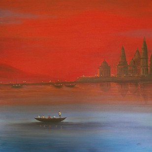 Seascape -32 Digital Print by Atul Virkar,Impressionism