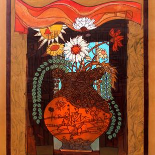 Flower Vase 1 Digital Print by Deepankar Majumdar,Expressionism