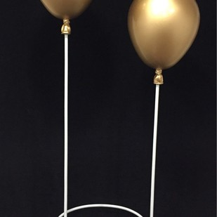 Balloons(12) by Vernika, Art Deco Sculpture | 3D, Fiber Glass, Black color