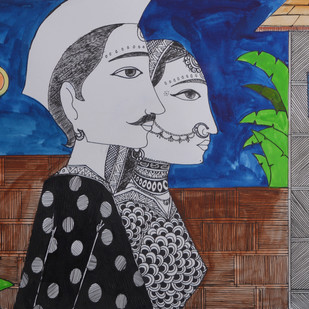Love Painting 2 by santosh patil, Decorative Painting, Pen, pencil, watercolour on paper, Gray color