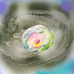 Star trek - 2 by Vijay Kumar Sawhney, Abstract Painting, Mixed Media on Paper, Green color