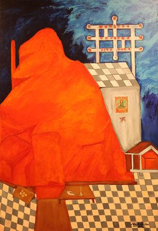 The Mystical Sharika -Goddess of Kashmir-The Demon Destroyer Digital Print by Neeraj Raina,Expressionism
