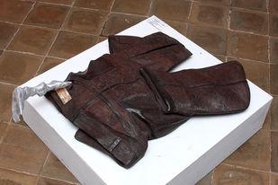 Killer-II by Nandkumar Yashwant Kulaye, Art Deco Sculpture | 3D, Wood , Scrap and Metal, Brown color