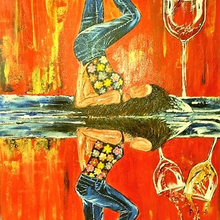 Double W Temptation Digital Print by Neeraj Raina,Pop Art