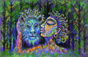 COMRADERY by Pradip Sarkar, Pop Art Digital Art, Digital Print on Canvas,