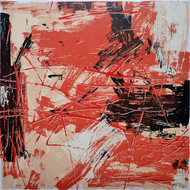 Untitled by Ajay Choudhury, Abstract Printmaking, Serigraph on Paper, Brown color