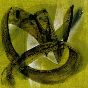 Tandav-01 by Shirish Deshpande, Abstract Painting, Acrylic on Canvas, Green color
