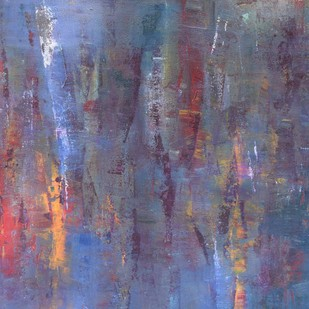 Light and Space by Mahesh Sharma, Abstract Painting, Acrylic on Canvas, Blue color