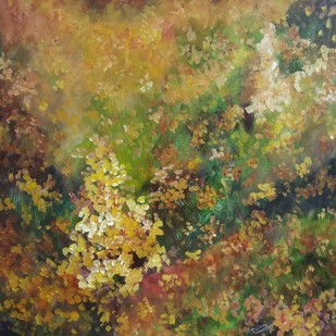 Nature by dilraj kaur, Abstract Painting, Acrylic on Canvas, Brown color