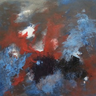 Smother by Rinden, Abstract Painting, Acrylic on Paper, Brown color