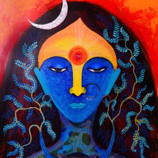 Aadishakti Digital Print by Pragati Sharma Mohanty,Expressionism