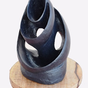 Wave of Motherhood by Aarti Gupta Bhadauria, Art Deco Sculpture | 3D, Terracotta, Gray color
