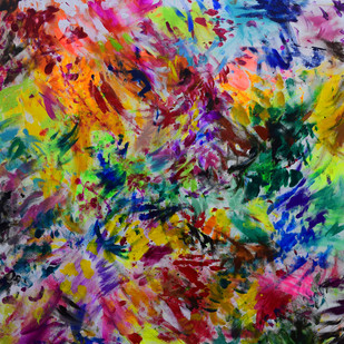 Banish the Cage-Fluttering Parrots Digital Print by Aatmica Ojha,Abstract
