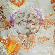 Kaleidotunes%28silence%29  48x36inch  mixed media on canvas  2015