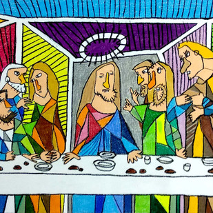 Leonardo's The Last Supper Digital Print by Nithil,Pop Art