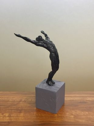 Victorious by Vernika, Art Deco Sculpture | 3D, Metal, Brown color