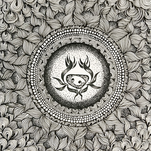 Cancer by Swadha, Illustration Drawing, Ink on Paper, Gray color