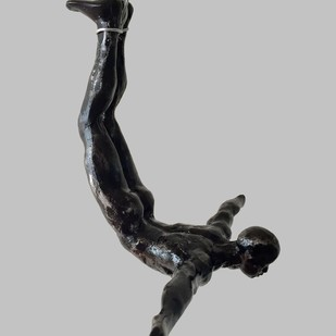 The Divers(set of 2) by Vernika, Art Deco Sculpture | 3D, Metal, Gray color