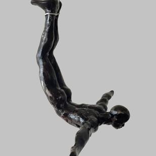 The Divers (set of 5) by Vernika, Art Deco Sculpture | 3D, Metal, Gray color