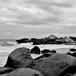 Rocky III by M. Shafiq, Image Photography, Digital Print on Archival Paper, Gray color